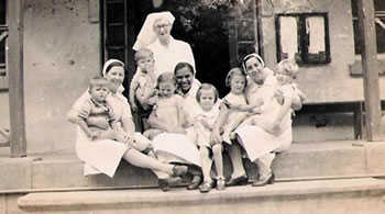 St Helena children and nurses